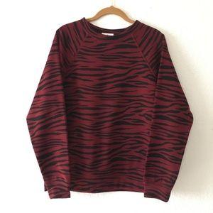 Socialite Long Sleeve Crewneck Zebra Sweatshirt